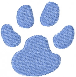 Pawprint 25 embroidery design