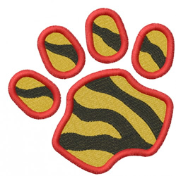 TIGER PAW ANGLED embroidery design