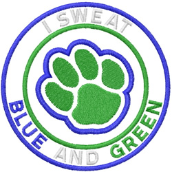 Blue And Green embroidery design