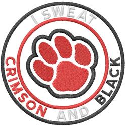 Crimson And Black embroidery design