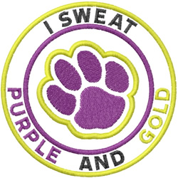 Purple And Gold embroidery design