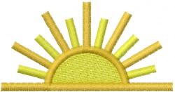 Sun 4 embroidery design