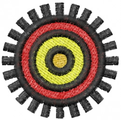 Sun 5 embroidery design