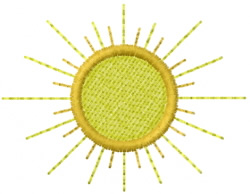 Sun 8 embroidery design