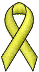 Awareness Ribbon 7 embroidery design