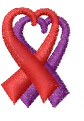 Awareness Ribbon 9 embroidery design
