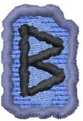 Rune B embroidery design