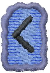 Rune C embroidery design