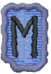 Rune E embroidery design