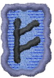 Rune F embroidery design