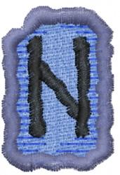 Rune H embroidery design