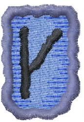 Rune K embroidery design