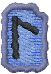 Rune L embroidery design