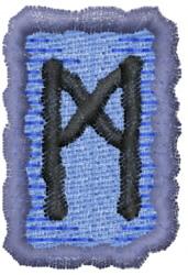 Rune M embroidery design