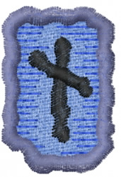 Rune N embroidery design