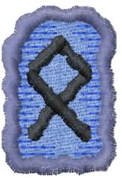 Rune O embroidery design