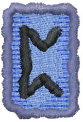 Rune P embroidery design