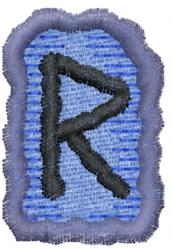 Rune R embroidery design