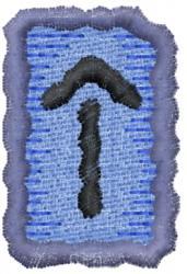 Rune T embroidery design