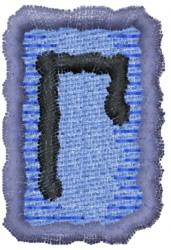 Rune U embroidery design
