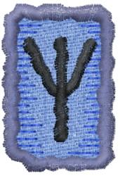 Rune X embroidery design