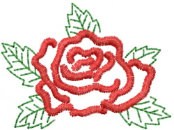 Rose 12 embroidery design