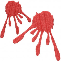Two Splats embroidery design