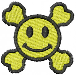 Smiley 23 embroidery design
