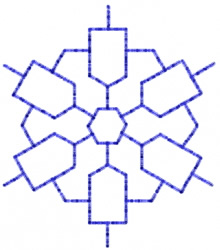Snowflake 20 embroidery design