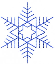Snowflake 30 embroidery design