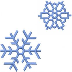TWO SATIN SNOWFLAKES embroidery design