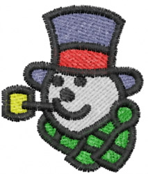 Snowman 5 embroidery design