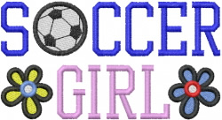 SOCCER GIRL embroidery design