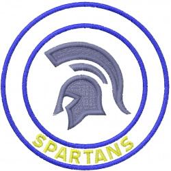 Spartans Mascot embroidery design