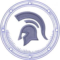 Spartan Helmet embroidery design