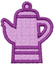 Teapot 14 embroidery design