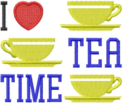 Love Tea Time embroidery design