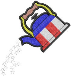 Patriot Teapot embroidery design