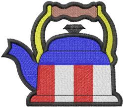 Patriotic Teapot embroidery design