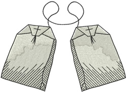 TEA BAGS embroidery design