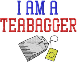 I Am A Teabagger embroidery design