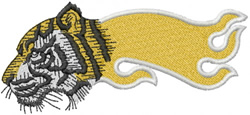 TIGER HEAD SIDEVIEW – FLAMED embroidery design