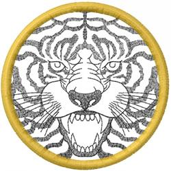 TIGER FACE – OPEN CIRCLE embroidery design