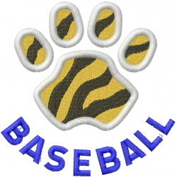 Tigers Baseball embroidery design
