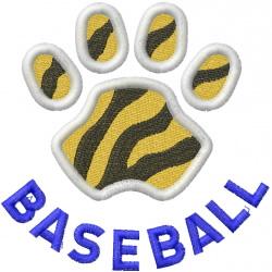 Tigers Baseball embroidery design