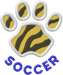 Tigers Soccer embroidery design
