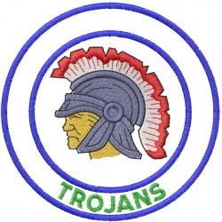 TROJAN HEAD 1 – DOUBLE CIRCLE – TROJANS embroidery design