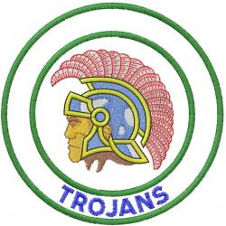 TROJAN HEAD 2 – DOUBLE CIRCLE – TROJANS embroidery design