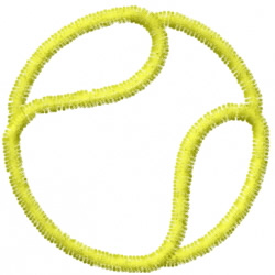 Tennis 3 embroidery design