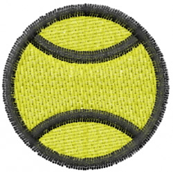 Tennis 5 embroidery design